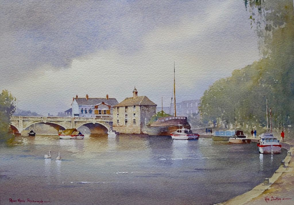 Peterborough, Customs House, Watercolour, Painting