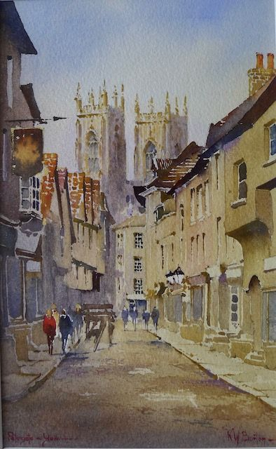York, Low Petergate, Painting