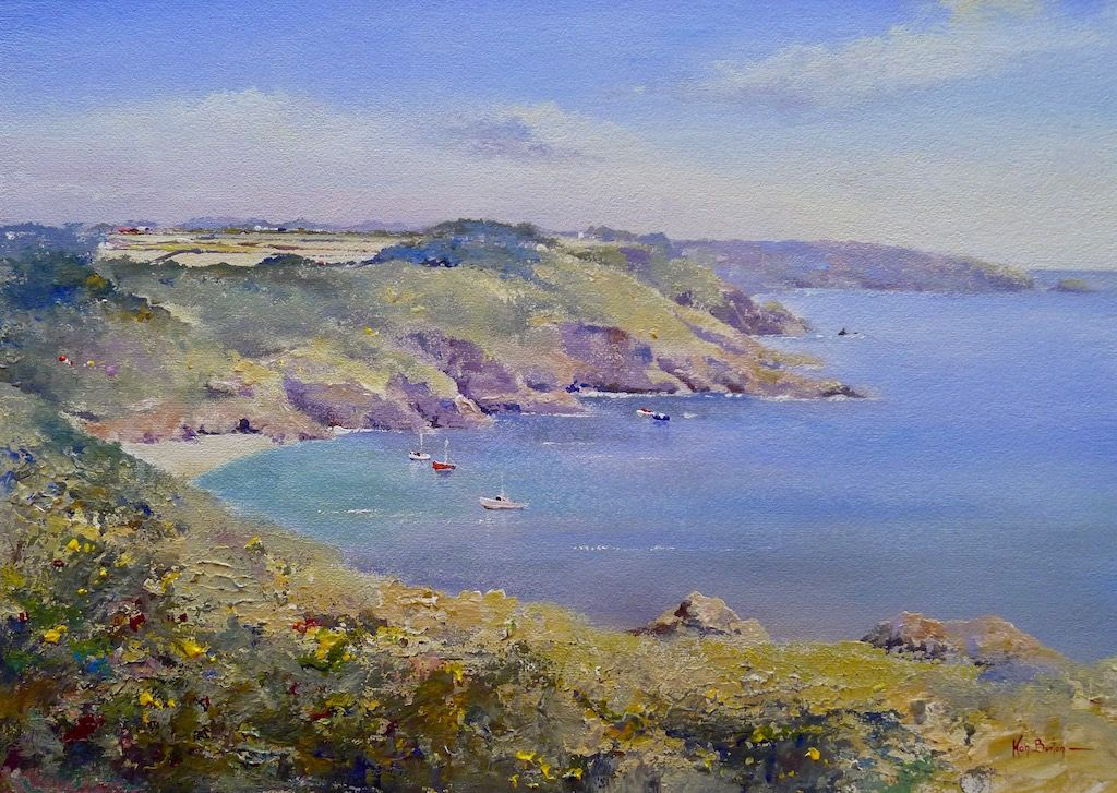 Guernsey, saints Bay, Painting